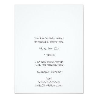"""Signo """"&"""" blanco rústico de la prensa de copiar invitación 10,8 x 13,9 cm"""