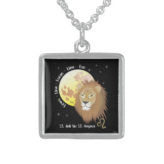 Signo de círculo de estrella león collar