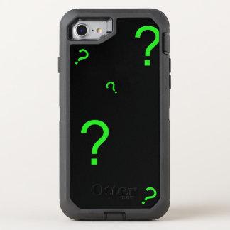 Signo de interrogación verde de neón funda OtterBox defender para iPhone 7