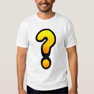 Signo de interrogación y marca de exclamación camiseta