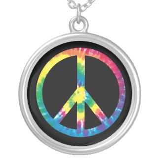 Signo de la paz 2 del teñido anudado colgantes personalizados