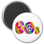 signo de la paz 60s imanes para frigoríficos