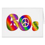 signo de la paz 60s tarjetón