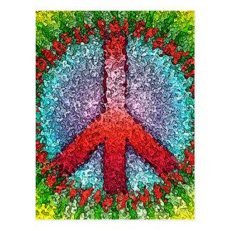 Signo de la paz abstracto postal