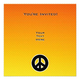 Signo de la paz amarillo-naranja invitacion personal