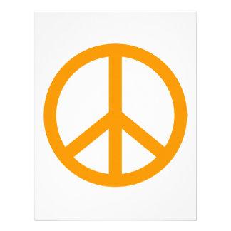 Signo de la paz anaranjado anuncio