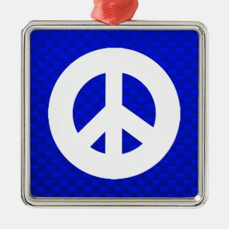 Signo de la paz azul ornatos