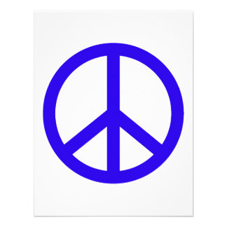 Signo de la paz azul comunicados personalizados