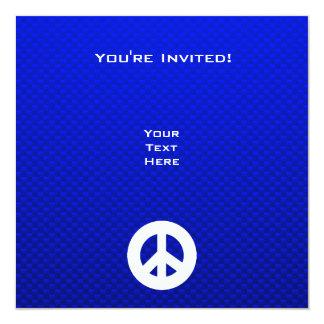 Signo de la paz azul invitación 13,3 cm x 13,3cm