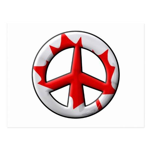 Signo de la paz canadiense de la bandera postal