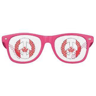 Signo de la paz canadiense gafas de sol