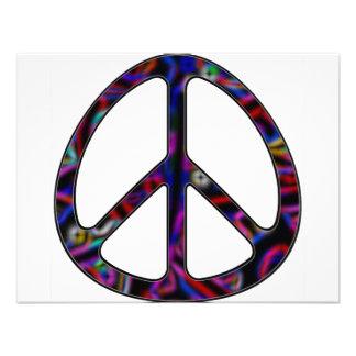 signo de la paz ccolorful anuncio personalizado