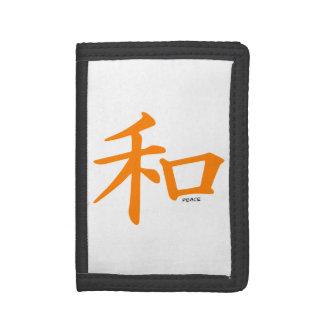 Signo de la paz chino anaranjado