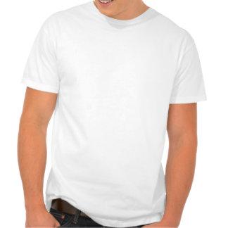 Signo de la paz chino azul de la lavanda camiseta