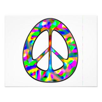 signo de la paz colorido invitacion personal