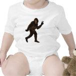 Signo de la paz de Bigfoot Traje De Bebé