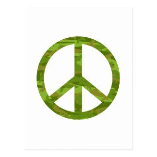 Signo de la paz de Camo Tarjeta Postal