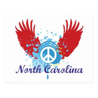 Signo de la paz de Carolina del Norte Postal