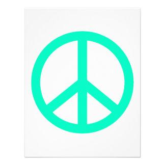 Signo de la paz de Greeen del mar Comunicados