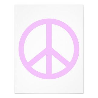 Signo de la paz de la lavanda comunicados personales