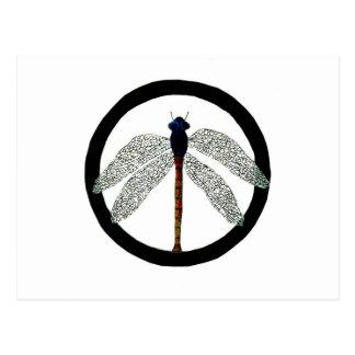 Signo de la paz de la libélula postal