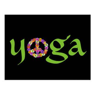 Signo de la paz de la yoga floral postal