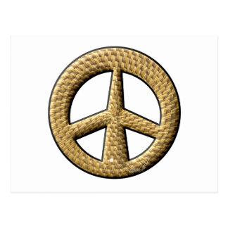Signo de la paz de mimbre postal