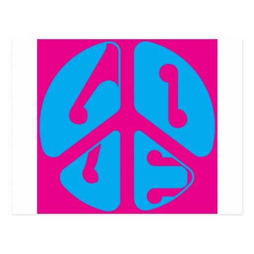 signo de la paz del amor postal