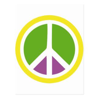 signo de la paz del arco iris postal