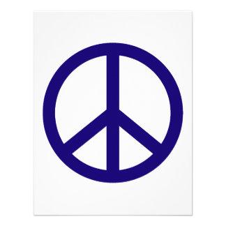 Signo de la paz del azul de Nevy Invitacion Personal