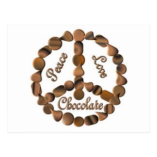 Signo de la paz del chocolate postal