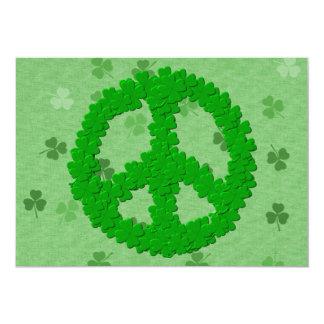Signo de la paz del día de St Patrick Invitación 12,7 X 17,8 Cm