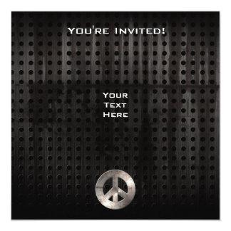 Signo de la paz del Grunge Invitación 13,3 Cm X 13,3cm