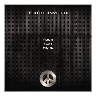 Signo de la paz del Grunge Invitación Personalizada