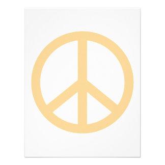 Signo de la paz del melocotón invitacion personalizada