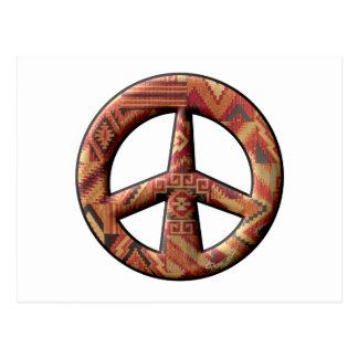 Signo de la paz del nativo americano postal