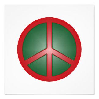 Signo de la paz del navidad invitaciones personalizada