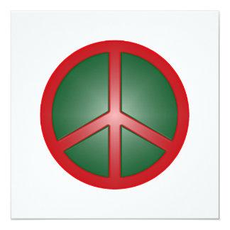 Signo de la paz del navidad invitación 13,3 cm x 13,3cm
