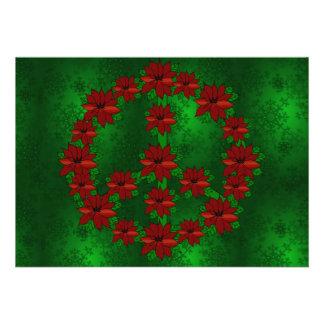 Signo de la paz del Poinsettia
