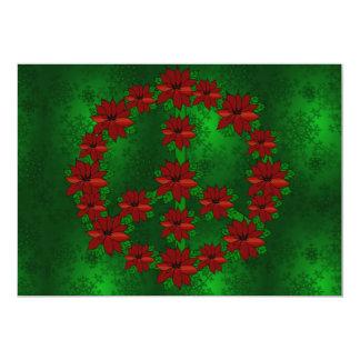 Signo de la paz del Poinsettia Invitación 12,7 X 17,8 Cm