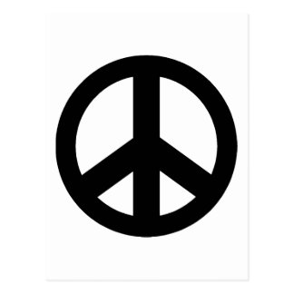 Signo de la paz del símbolo de paz postal