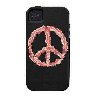 Signo de la paz del tocino iPhone 4/4S carcasa