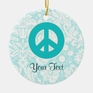 Signo de la paz del trullo ornaments para arbol de navidad