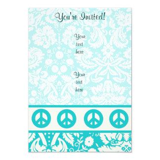 Signo de la paz del trullo invitación 12,7 x 17,8 cm