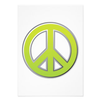 Signo de la paz del vintage el | comunicado