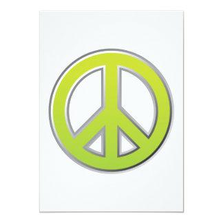 Signo de la paz del vintage el   invitación 12,7 x 17,8 cm