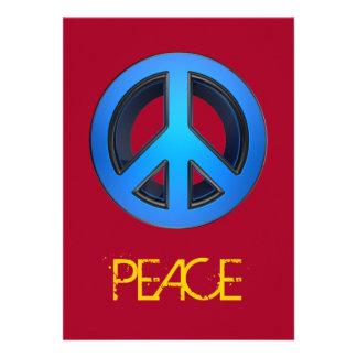 Signo de la paz en azul