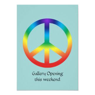 Signo de la paz en colores del arco iris comunicado personal
