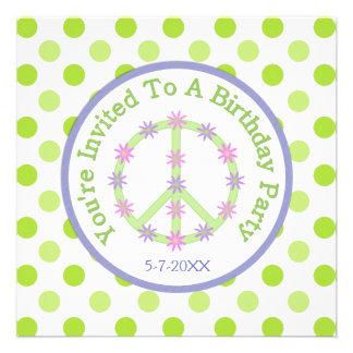 Signo de la paz floral: Invitación del fiesta