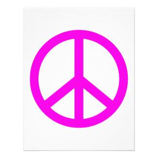 Signo de la paz fucsia invitaciones personales
